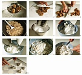 Making fig meringue cookies