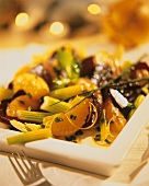 Beetroot salad with oranges and celery