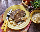 Middle Eastern meatloaf with dried apricots