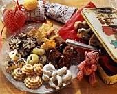 A Platter of Decorated Christmas Cookies