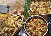 Baked turkey liver, carrot lasagna & rice pudding