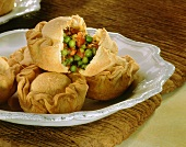 Empanadas: pasties with pea filling