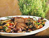 Majorcan braised lamb with vegetables and rosemary
