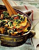 Stockfisch auf mallorquinische Art mit Kartoffeln & Mangold