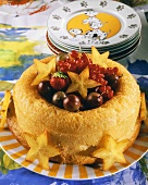 Savarin with fresh fruit for children's party