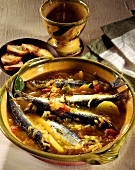 Sarde alla San Remese (Bouillabaisse with sardines, Italy)