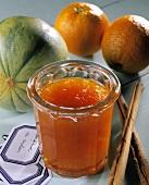 Orange and honeydew melon jam