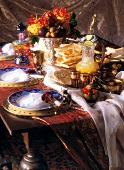 Oriental table set for special occasion