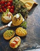Stuffed baked potato gratin