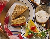 New York Reuben sandwiches with sauerkraut and cheese