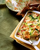 Savoy and mince casserole with tomatoes