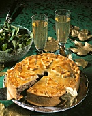 Canadian festive dish: meat pie with spices