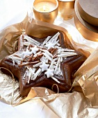 Star cake with chocolate curls