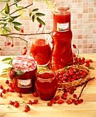 Rose hip jam and rose hip juice