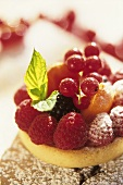 Quark tartlet with summer fruits