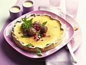 Crème brulee tartlet with chestnuts