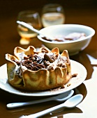 Chocolate chestnut tartlet