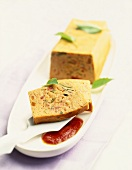 Vegetable terrine with paprika sauce