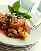 Lamb cutlet with Provence vegetables