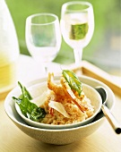 Jumbo prawns with parmesan and risotto