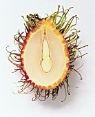 Eine halbe Rambutan