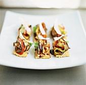 Stuzzichini vegetariani (Vegetable canapes, Italy)