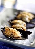 Cozze gratinate (Mussel gratin, Italy)