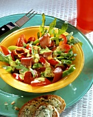 Bresaola and pepper salad