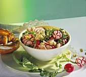 Radish salad with smoked pork rib (Kassler)
