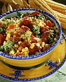 Sweetcorn salad with chorizo