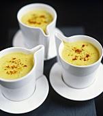 Cream of potato soup in cups