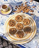 Cinnamon and almond tartlets