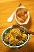 Saffron rice with dried fruits