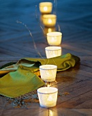 Tea lights as table decoration