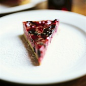 A piece of berry gateau