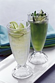 Lime drink and vegetable and herb drink