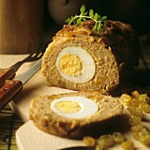 "Meatloaf with egg (Falscher hase ""mock hare"")"