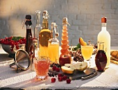 Home-made fruit juices and ingredients
