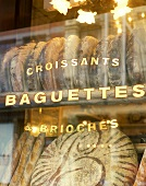 Shop window of a French bakery