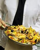 Paella in Paella Pan