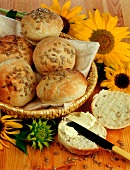 Bread rolls with sunflower seeds