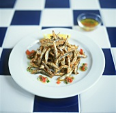 Fritto di sarde (deep-fried anchovies), Sicily, Italy