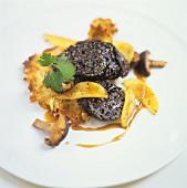Black pudding on potato rösti