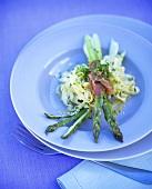 Tagliatelle agli asparagi (Green asparagus with ribbon pasta)