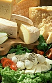 Still life with various cheeses
