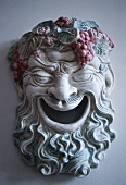 Mask of Bacchus, Roman god of wine, Medoc