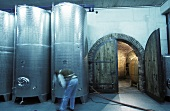 Wine tanks at Walter Skoff vineyard, Gamlitz, S. Styria