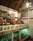 Barrique wine cellar on Buitenverwachting Estate, S. Africa