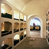 Wine cellar of St. Michael Wine Estate in Eppan, S. Tyrol