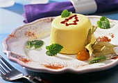 Marzipan and advocaat mousse for Christmas